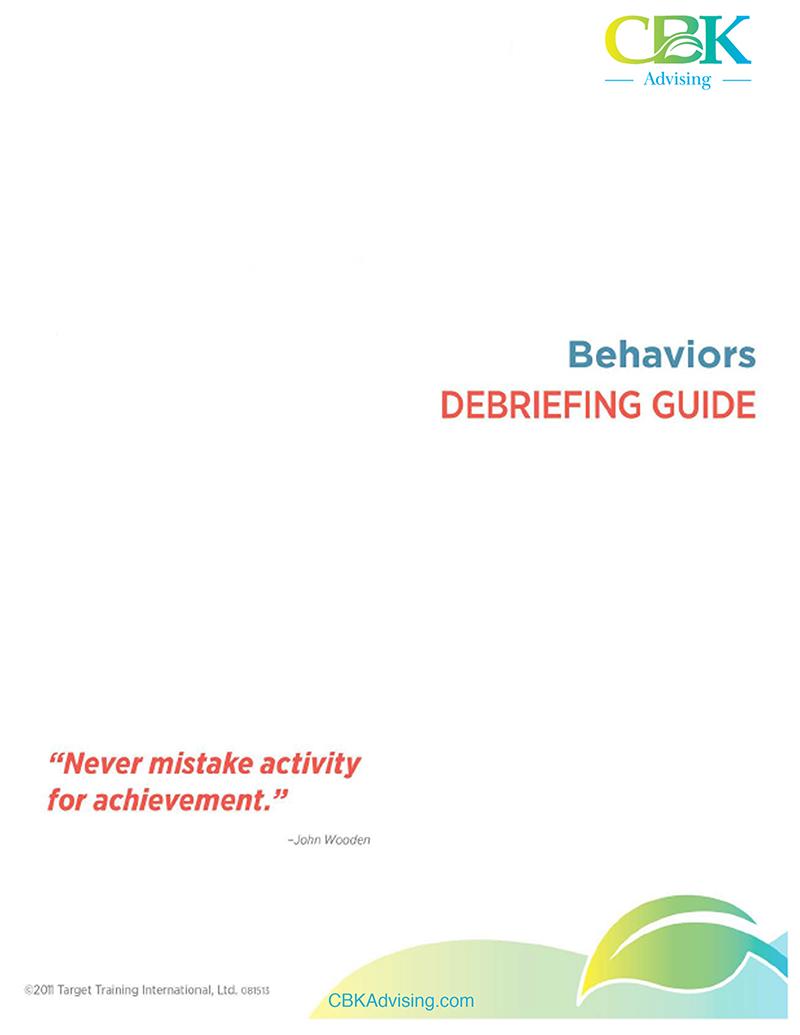 Behaviors Debriefing Guide-1