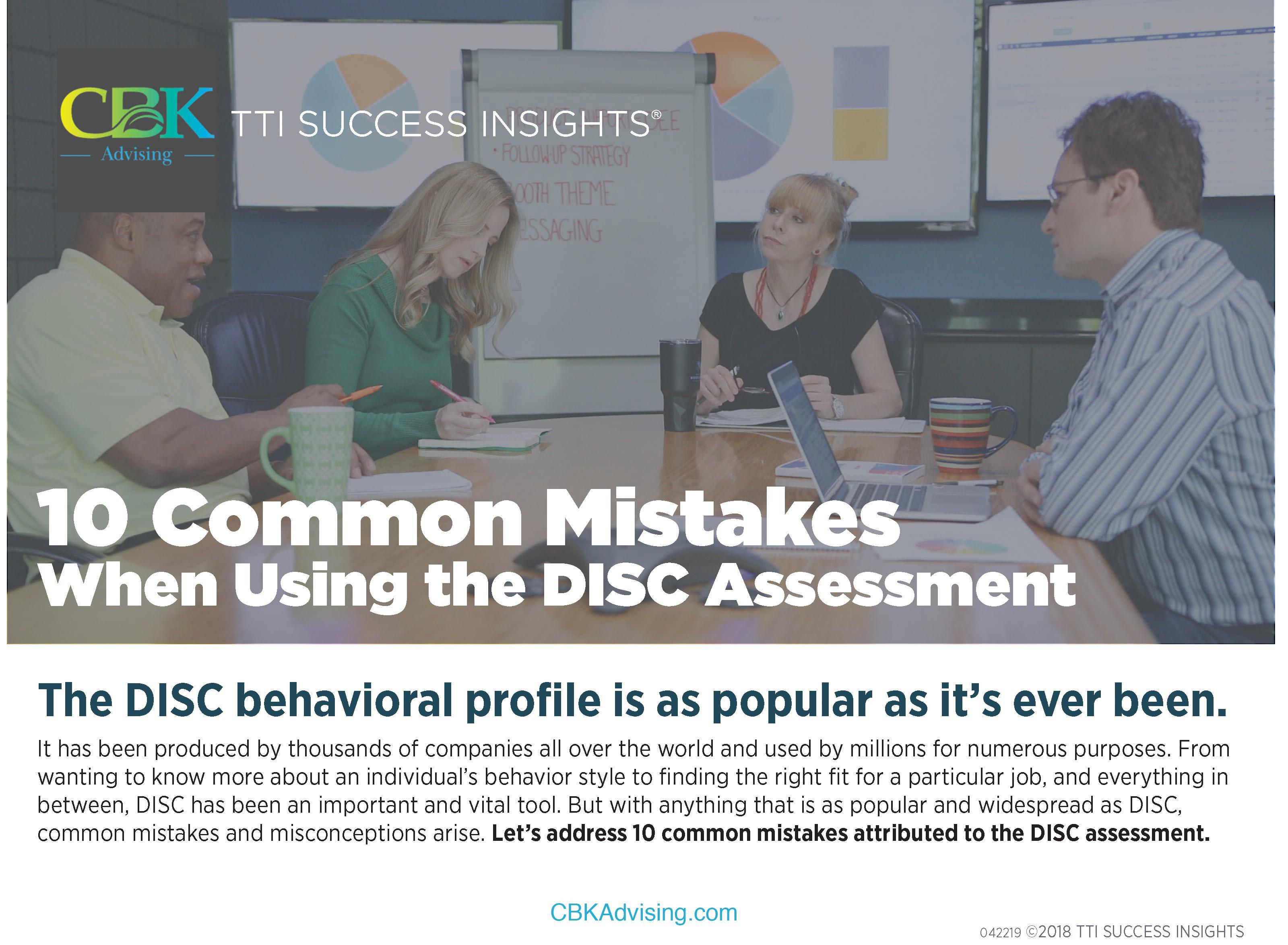 CBK 10 Common Mistakes Using DISC-1