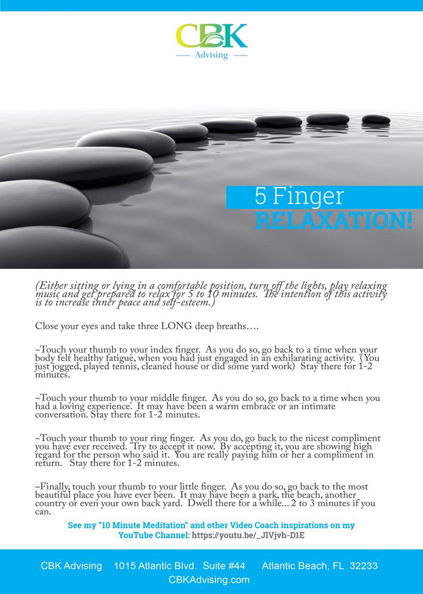 CBK Advising 5 Finger Relaxation